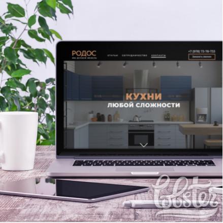 """разработка дизайна-сайта для компании """"Родос"""""""